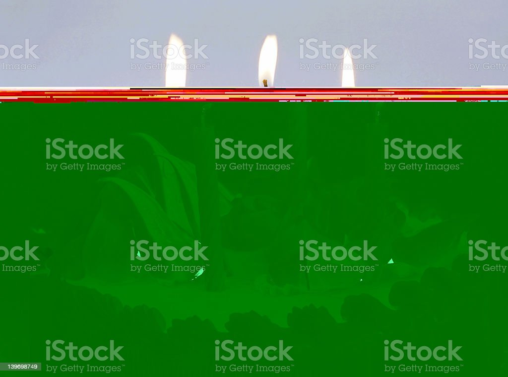 Candles on Birthday cake stock photo