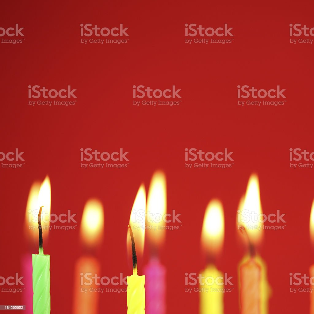 Candles on Red royalty-free stock photo