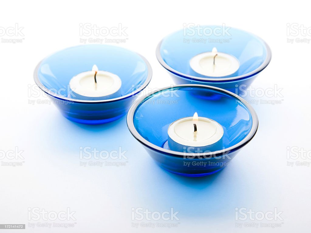 Candles on White Background royalty-free stock photo