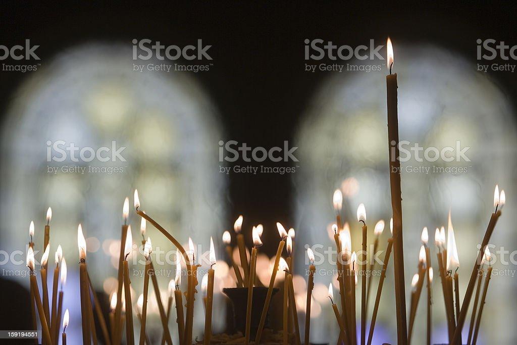 Candles Orthodox church stock photo