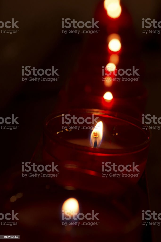 Candles (shallow DOF) royalty-free stock photo