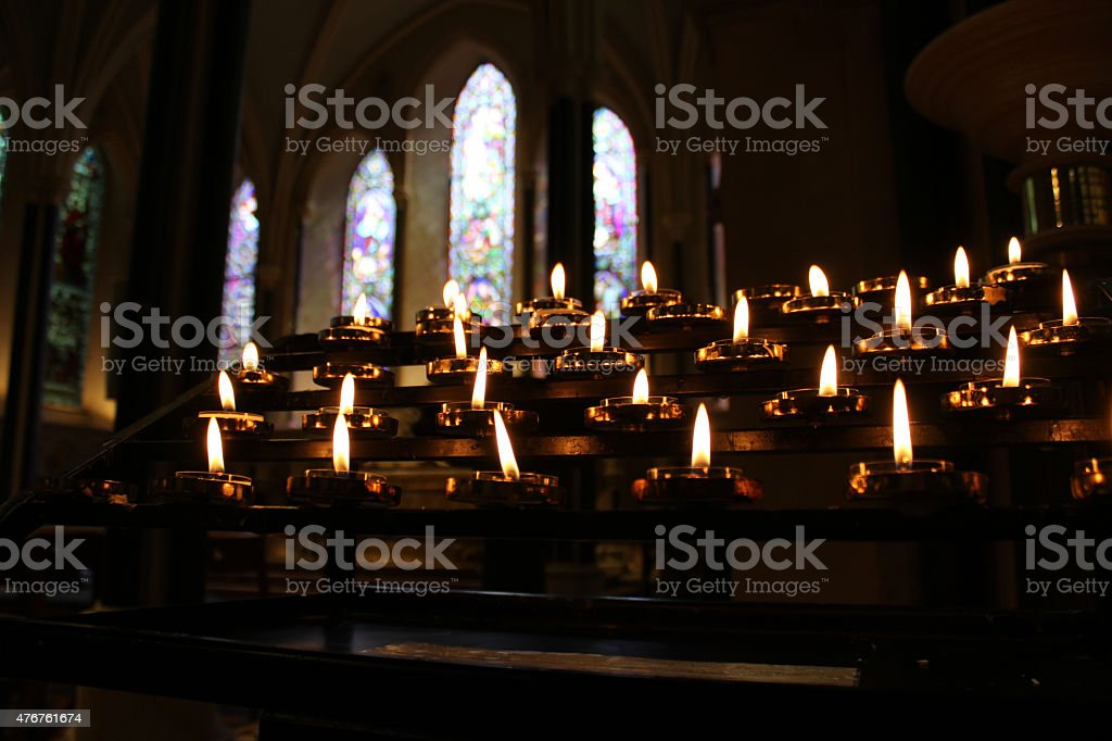 Candles stock photo
