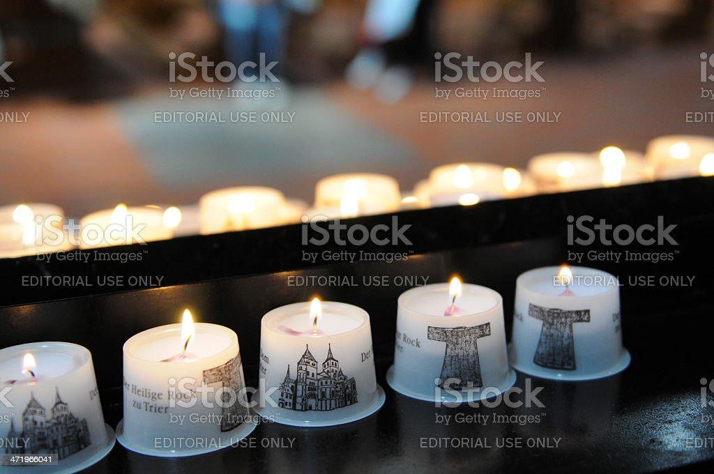 candles Seamless robe of Jesus stock photo