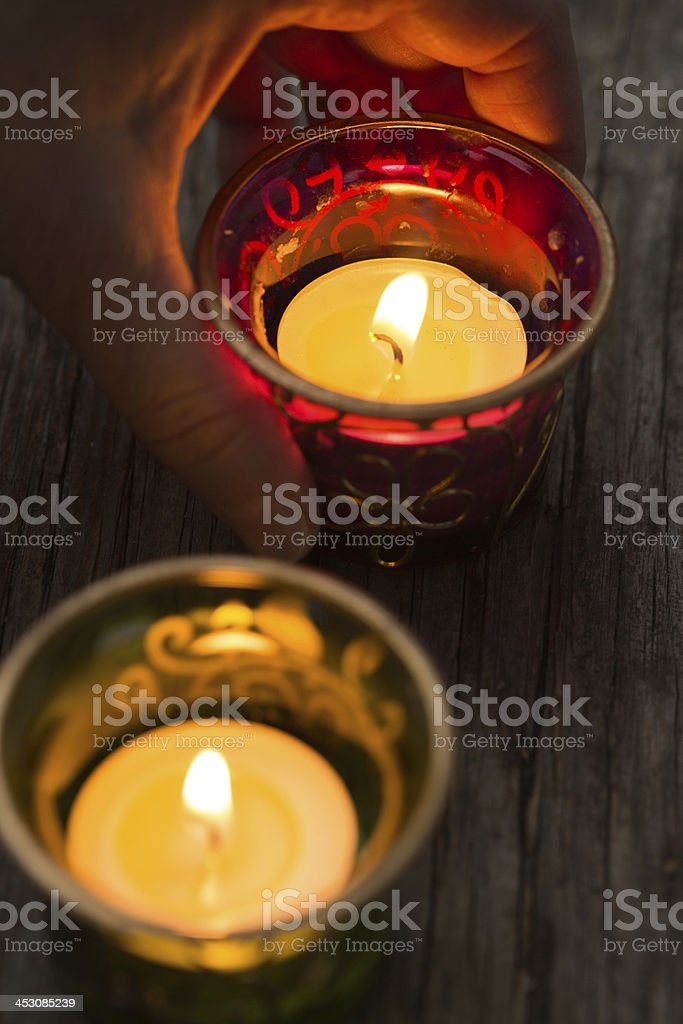Candles tealights royalty-free stock photo