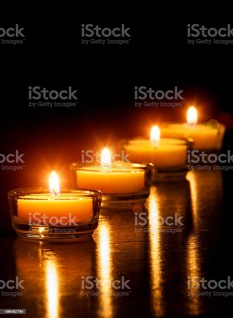 Candles vertical stock photo