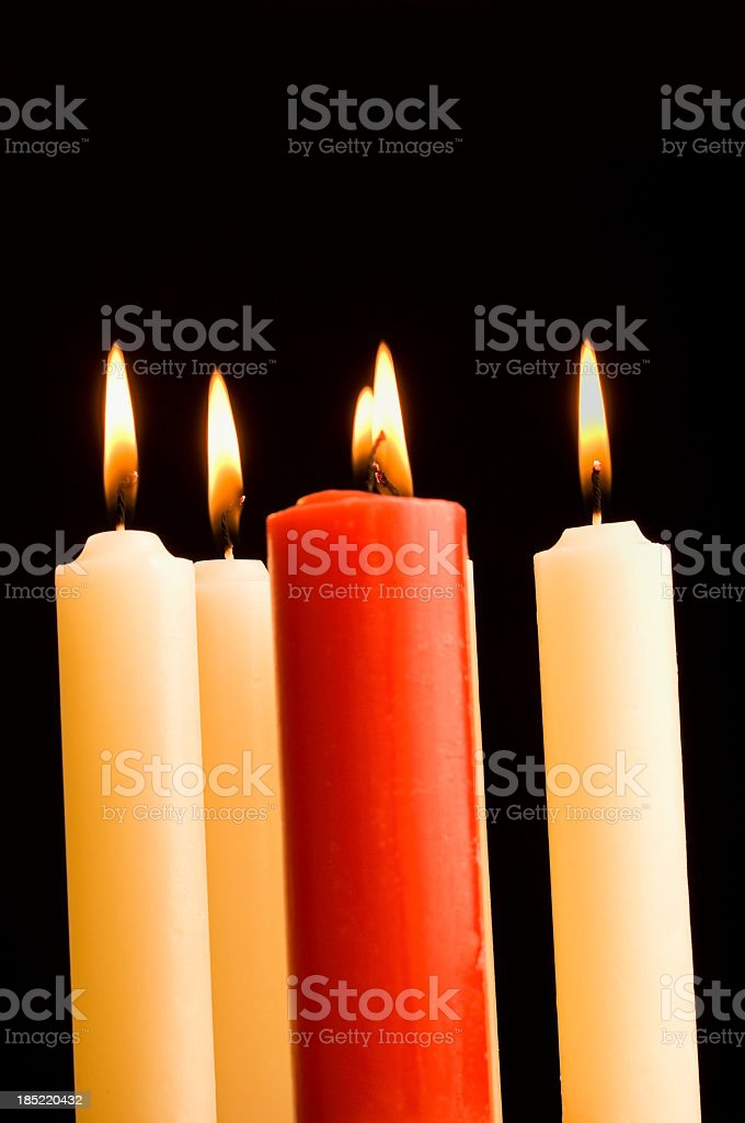 Candles with flame royalty-free stock photo
