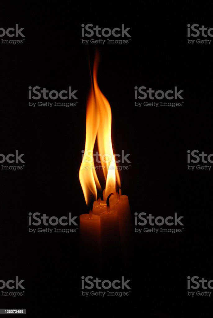 Candles With Flames royalty-free stock photo