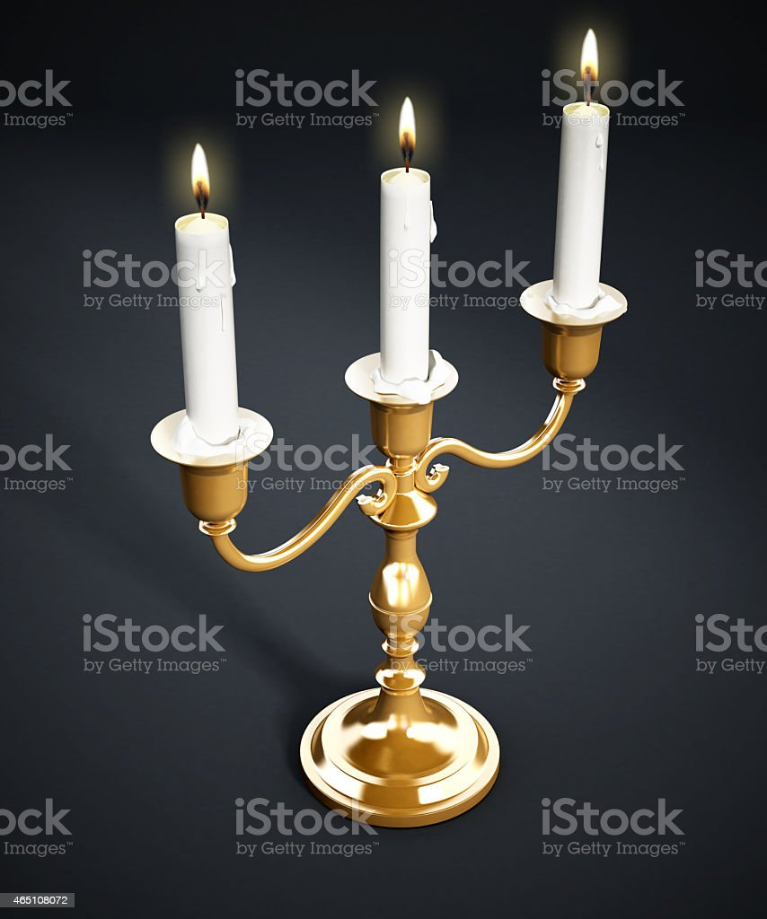 Candlestick holder stock photo