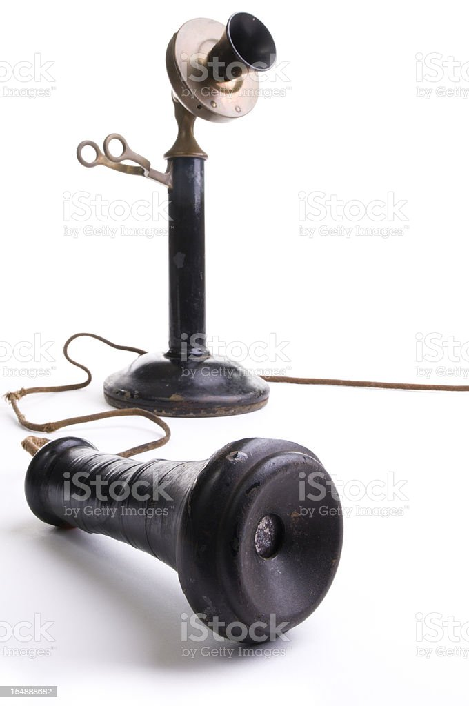 Candlestick Phone stock photo