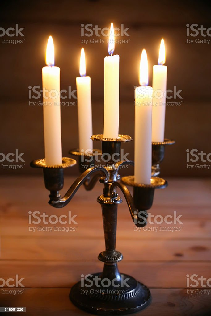 candlestick stock photo