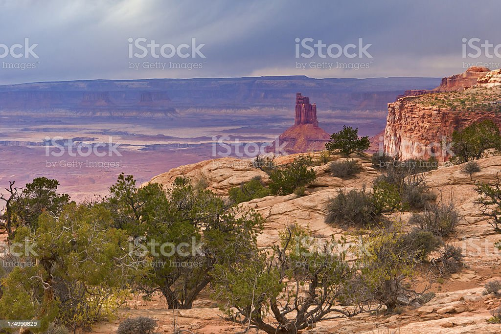 Candlestick Rock, Canyonlands stock photo