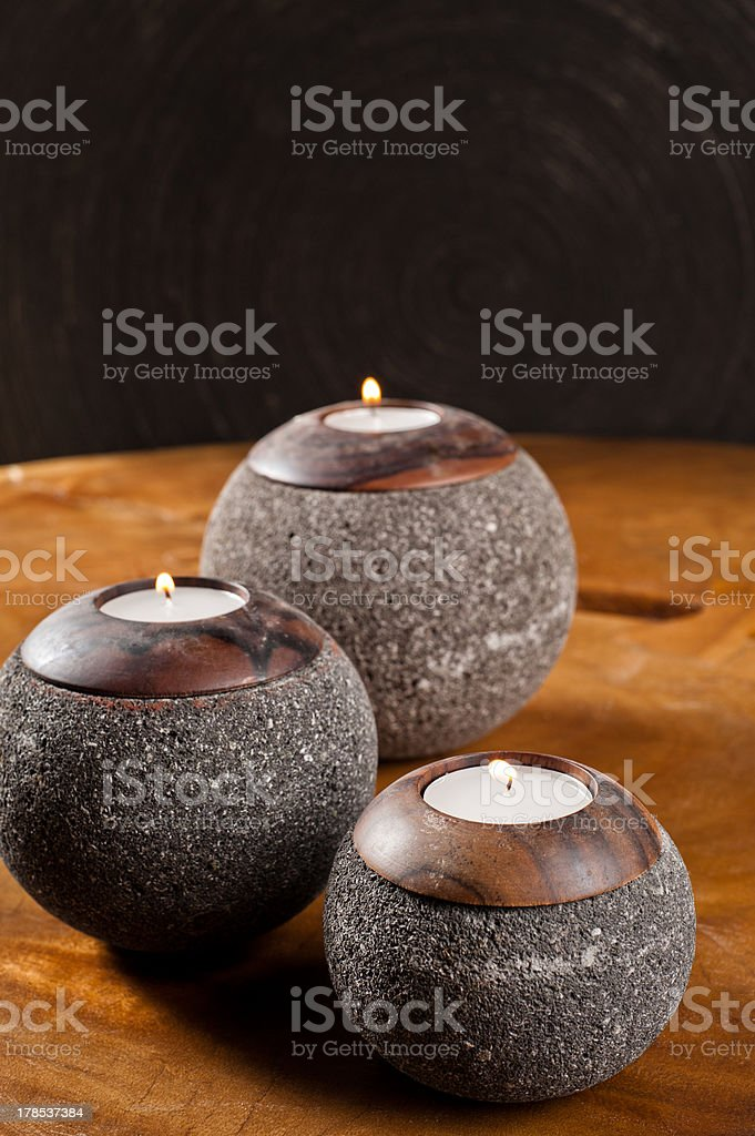 Candlesticks as interior decoration royalty-free stock photo