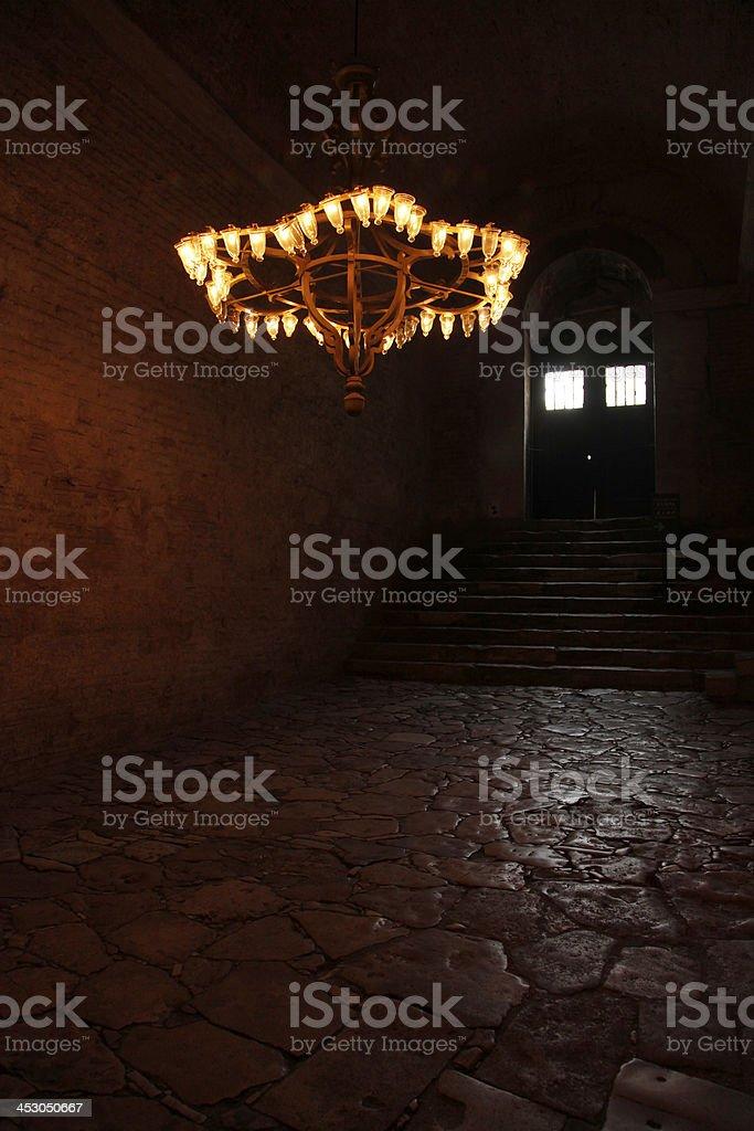 candlesticks of Hagia Sophia, Istanbul royalty-free stock photo