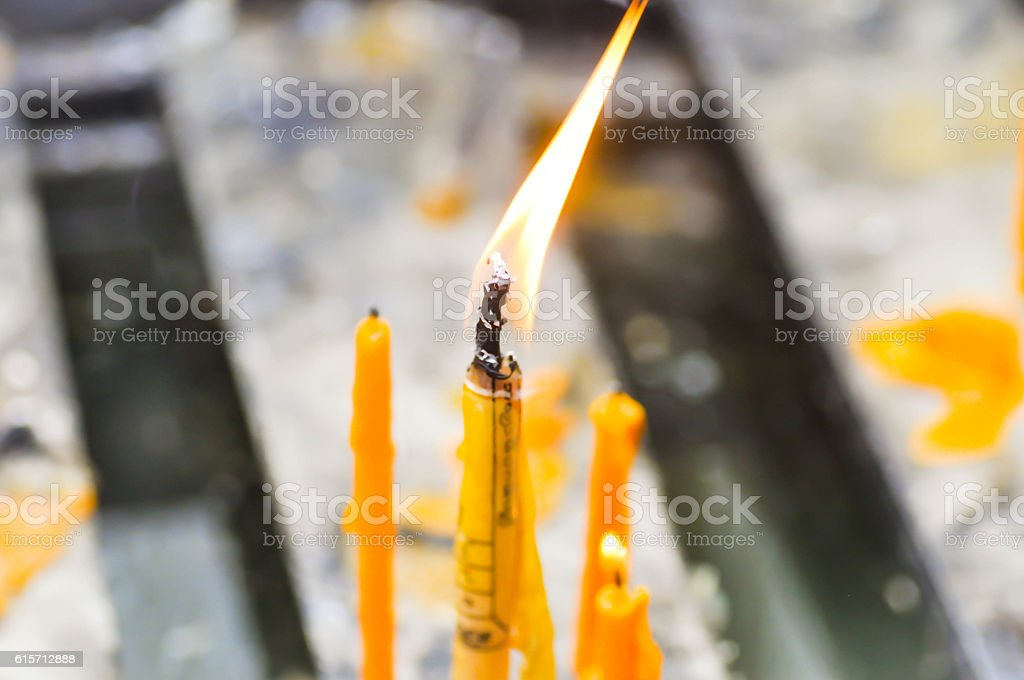 candle,wax or taper stock photo