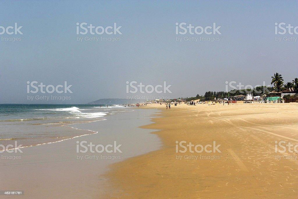 Candolim Beach Goa India stock photo