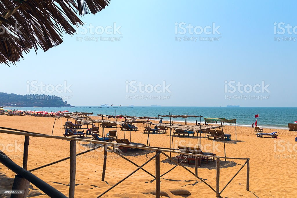 Candolim Beach stock photo