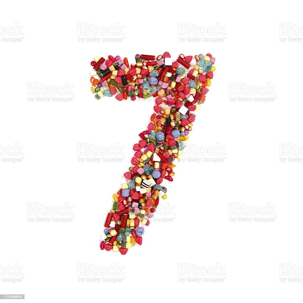 candy alphabet font royalty-free stock photo