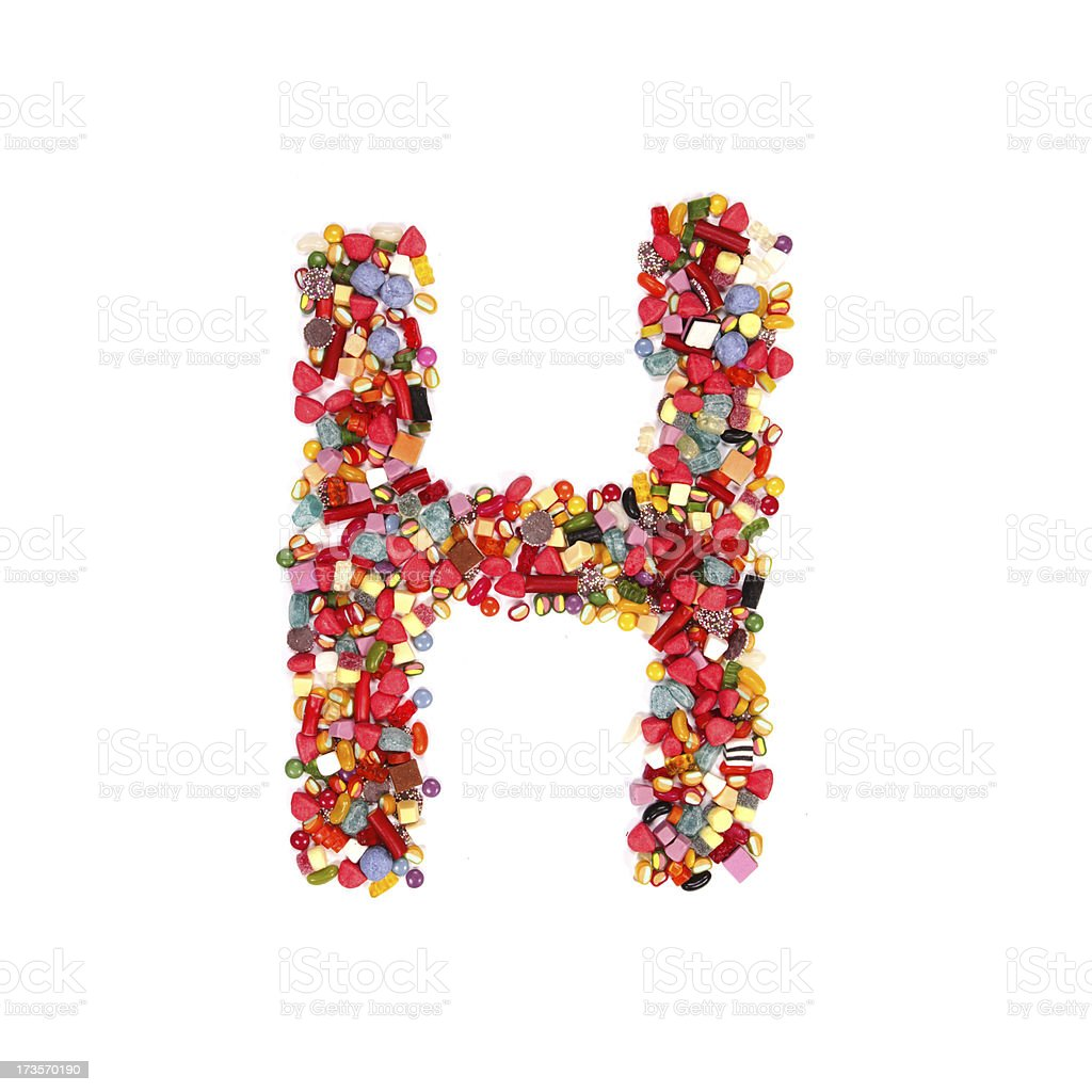 candy alphabet font royalty-free stock photo