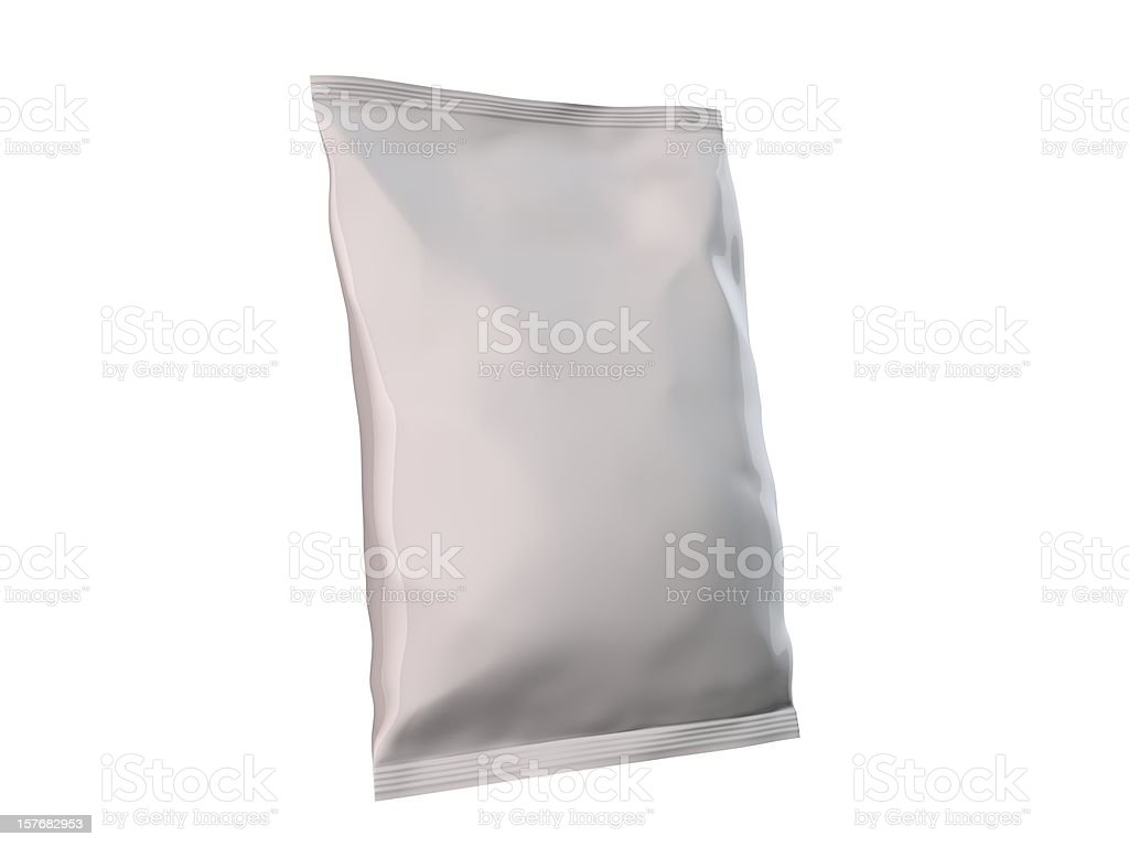 Candy and chips bag with no label stock photo