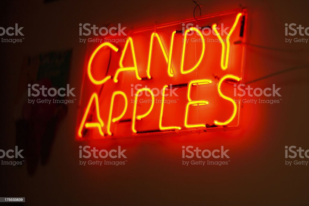 Candy Apple sign. stock photo