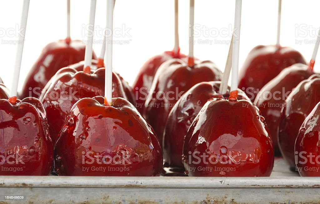 Candy Apples At A Country Fair stock photo