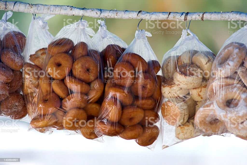 'Candy bags hanging' royalty-free stock photo