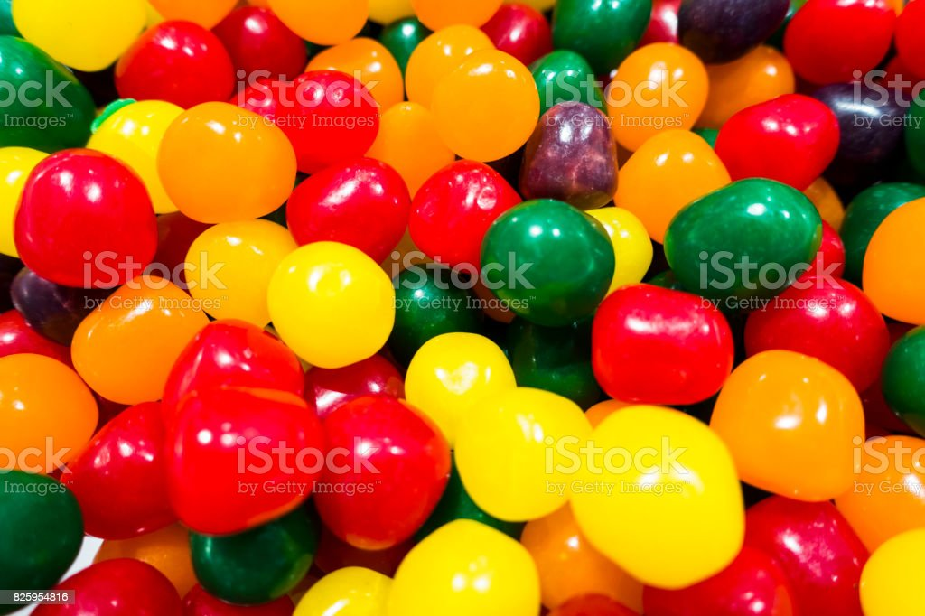 candy balls in different colors stock photo