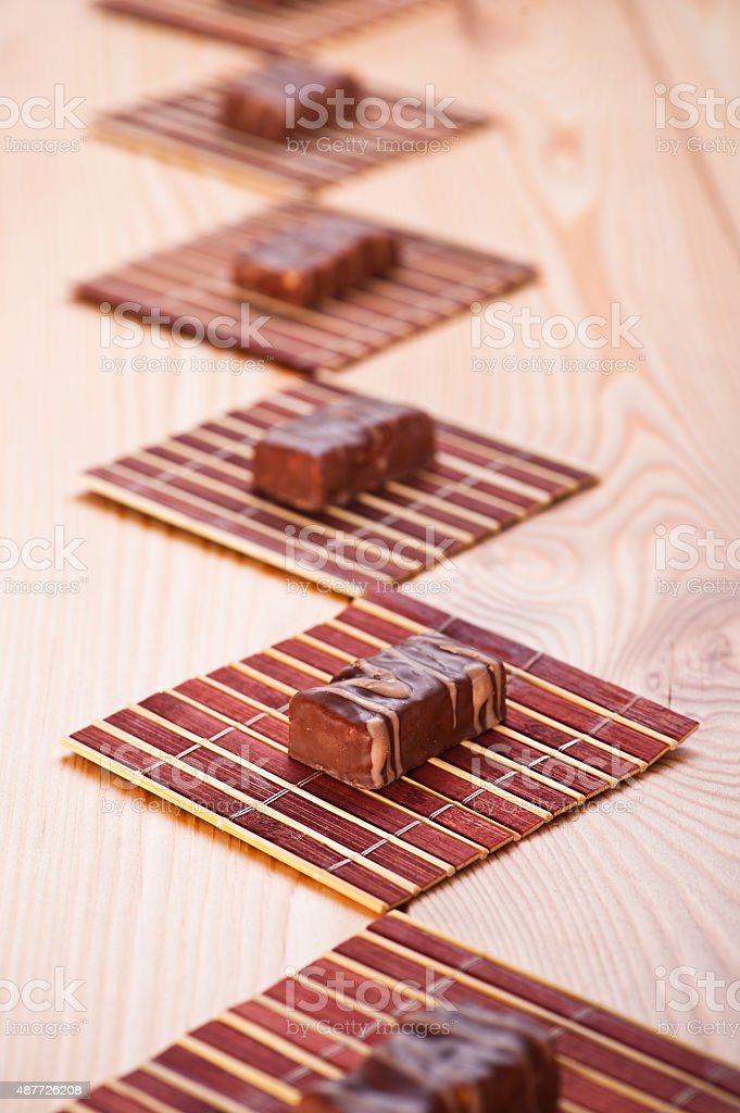 candy beautifully arranged on table stock photo