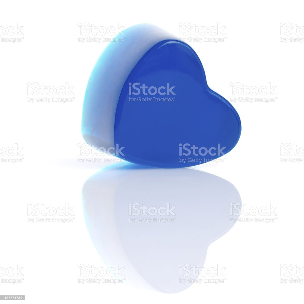 Candy blue heart royalty-free stock photo