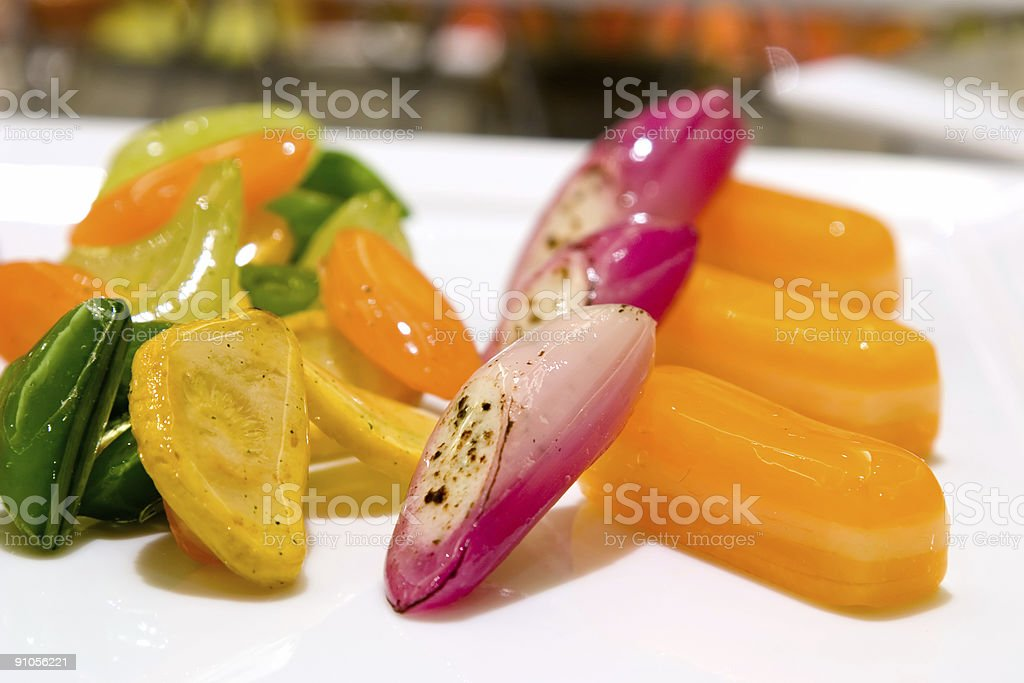 Candy cane and gold beets saute royalty-free stock photo
