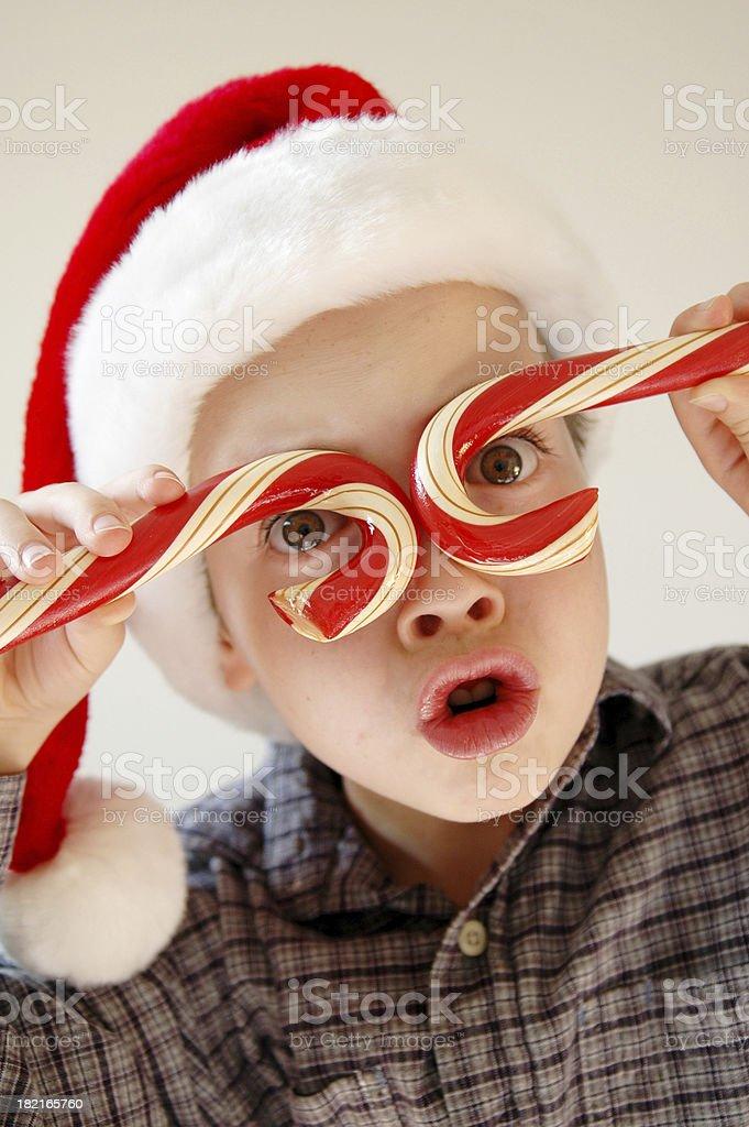 Candy Cane Boy royalty-free stock photo