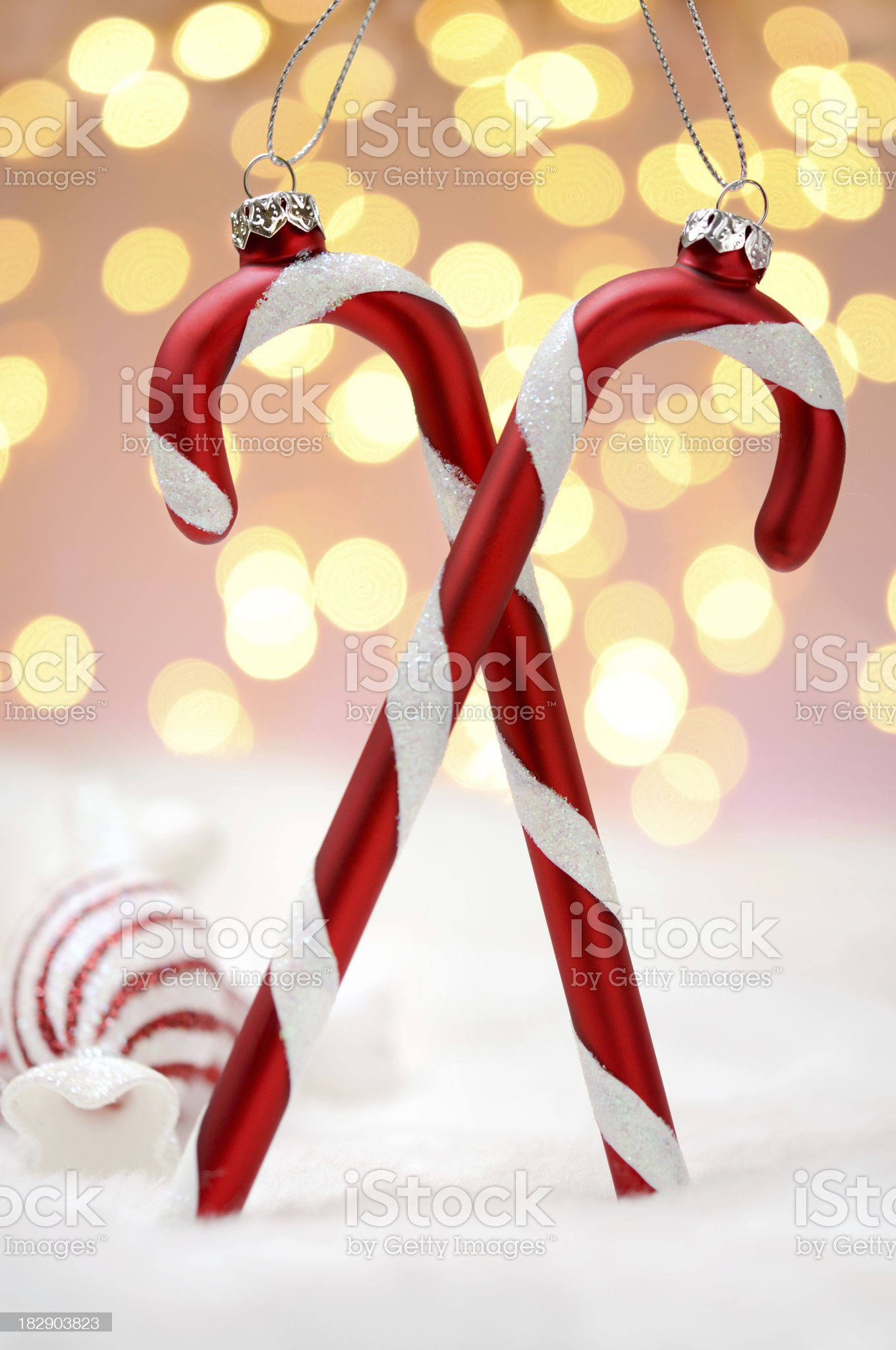 Candy Cane Christmas Ornament royalty-free stock photo