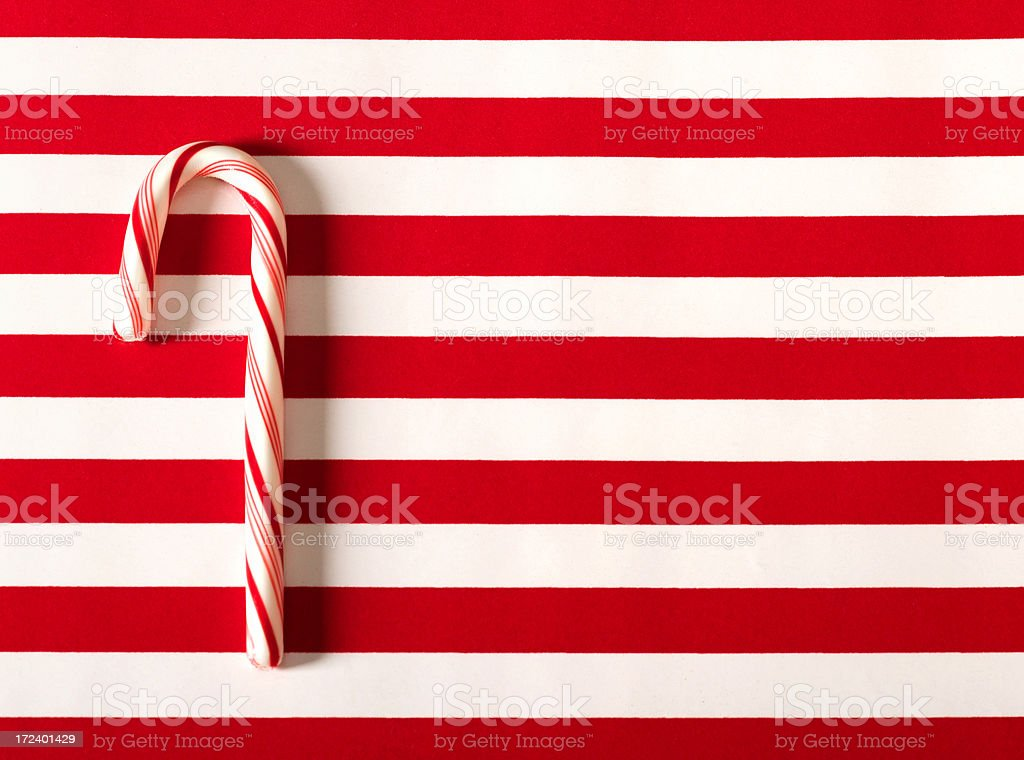 candy cane flag royalty-free stock photo