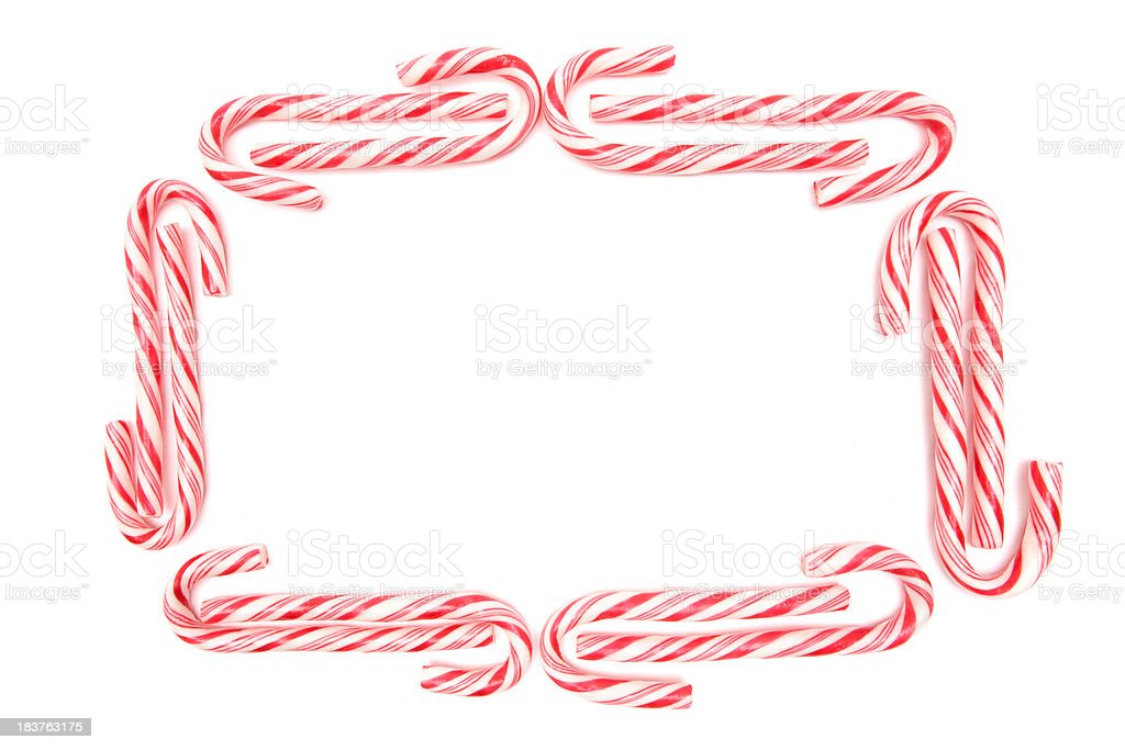 Candy Cane Frame royalty-free stock photo