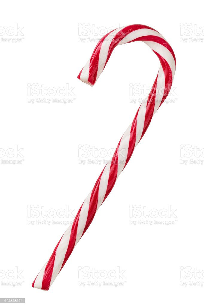 Candy cane isolated on white stock photo