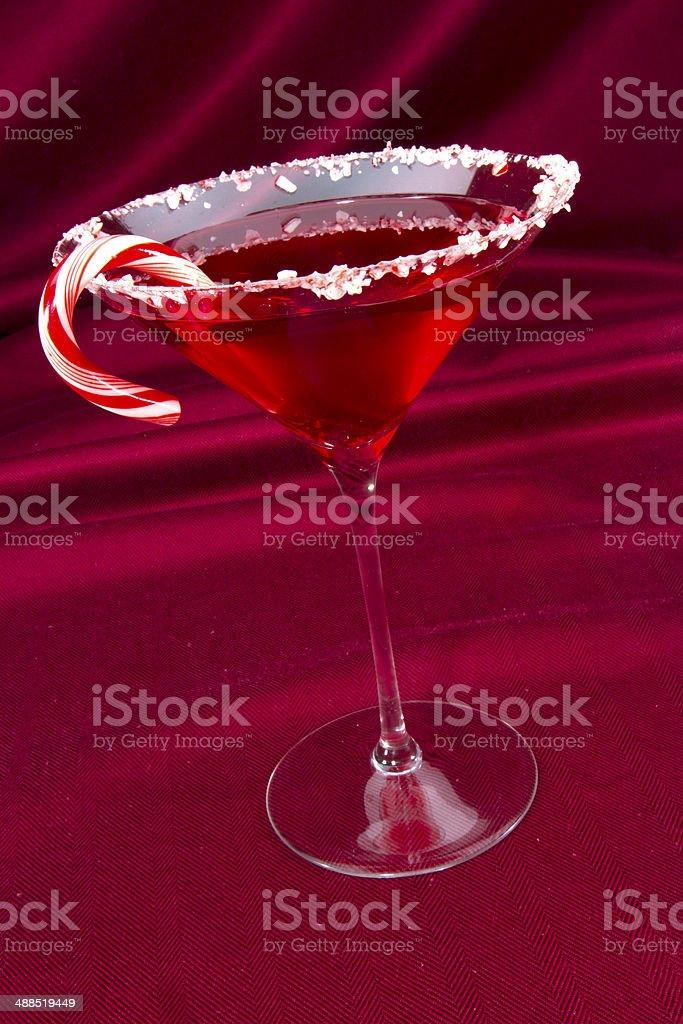 Candy Cane Martini stock photo