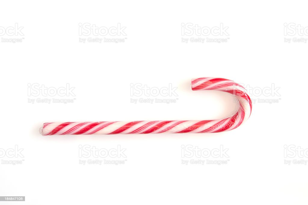 Candy Cane on White stock photo
