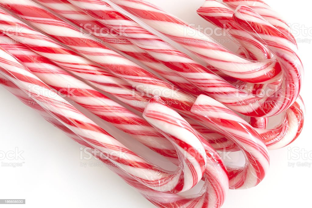 Candy Cane on White royalty-free stock photo