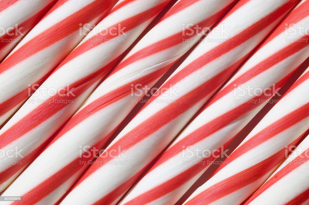 Candy Canes Diagonal Close-up stock photo