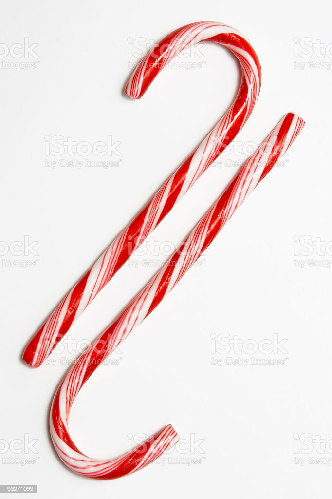 Candy Canes x 2 royalty-free stock photo