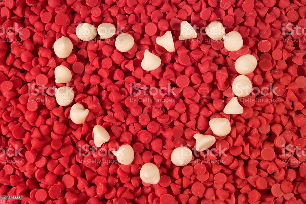 Candy Chip Heart royalty-free stock photo
