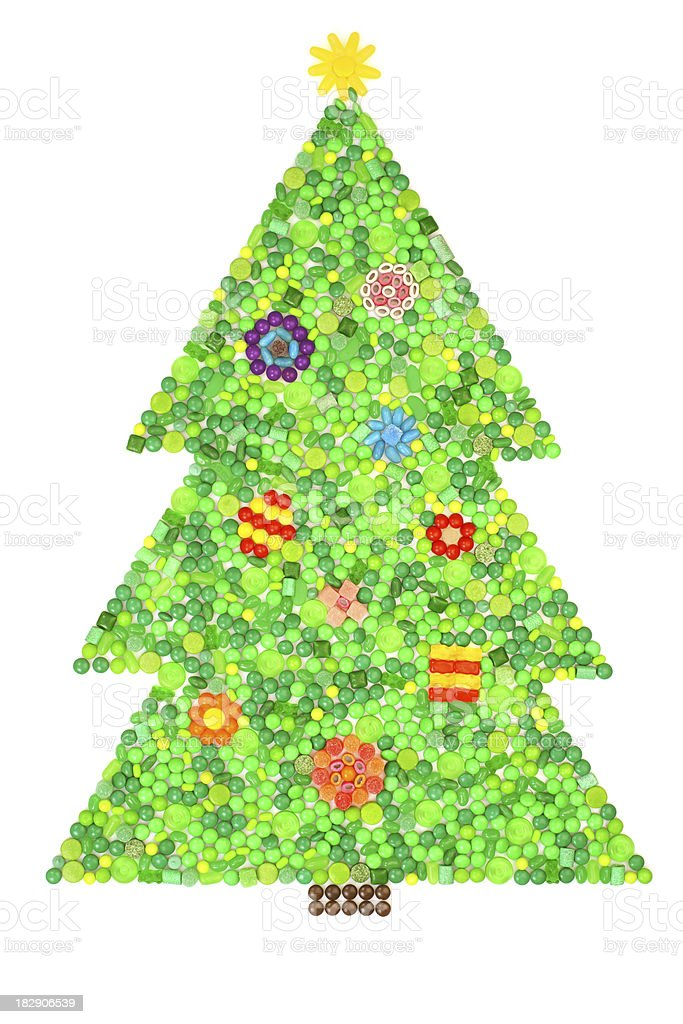 Candy Christmas Tree royalty-free stock photo