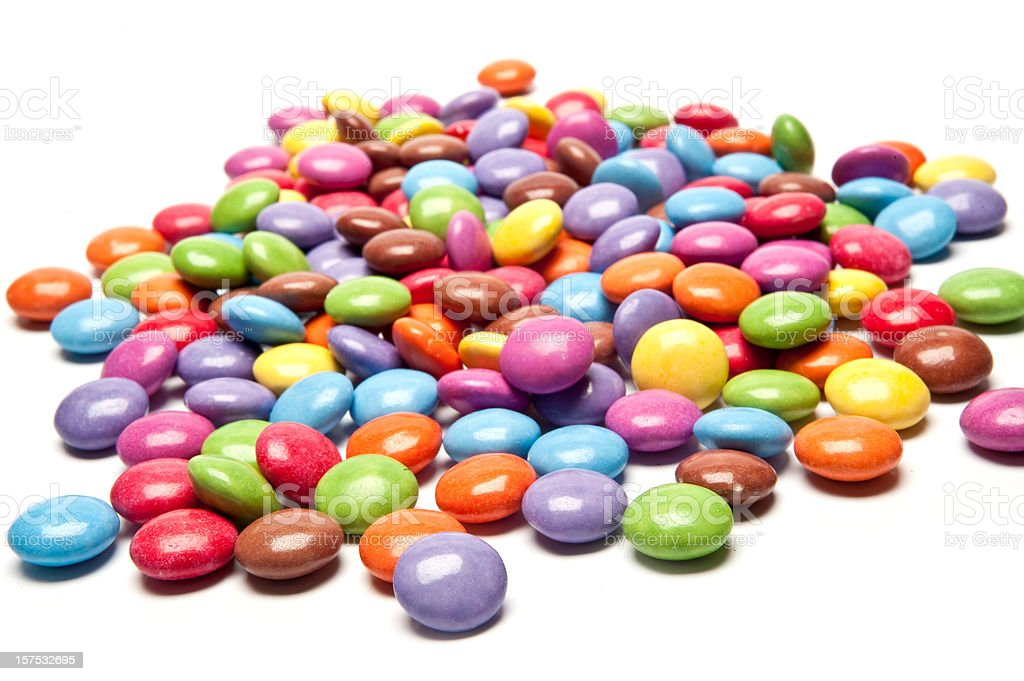 Candy Coated Chocolate royalty-free stock photo