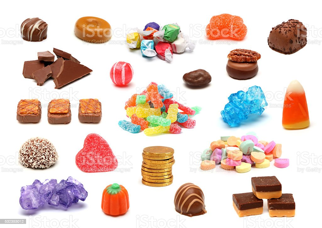 Candy Collage stock photo