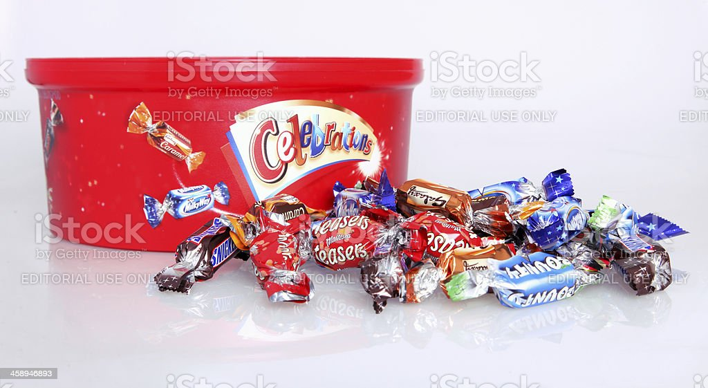 Candy collection Celebrations stock photo