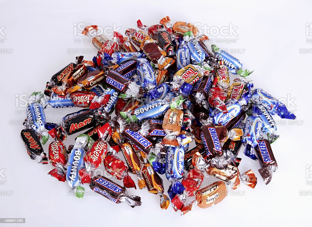 Candy collection stock photo