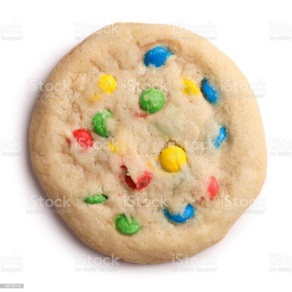 Candy Cookie Isolated + Clipping Path royalty-free stock photo