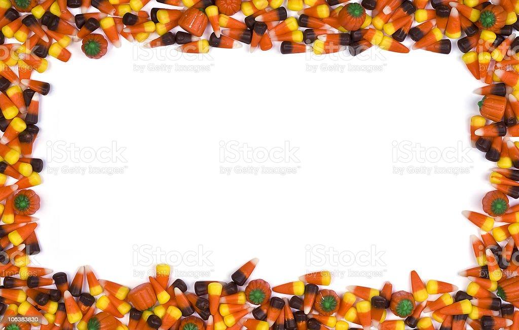 candy corn border stock photo