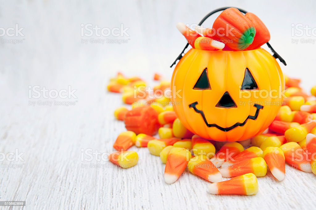 Candy Corn for Halloween stock photo