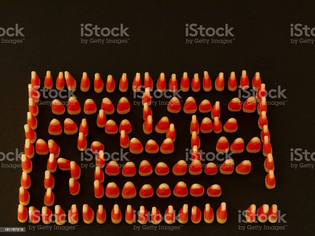Candy Corn Maze Copy Space Top royalty-free stock photo